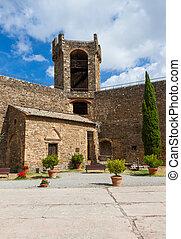 Castle of Montalcino, city of Brunello wine, Tuscany