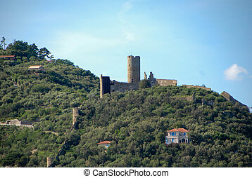 Castle of Monte Ursino. Noli - Liguria, Italy - The Castle...