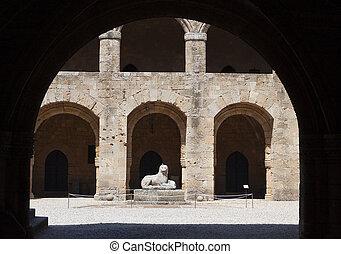 Castle of Rhodes island in Greece.