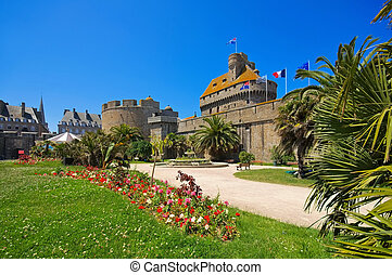castle of Saint-Malo in Brittany, France