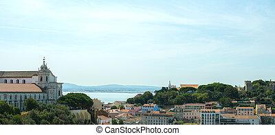 Castle of St. George and Convento da Graca in Lisbon.