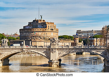 Castle of the Holy Angel (Castel Sant'Angelo) in Rome, Italy
