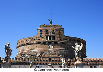 Castle of the Holy Angel ( Castel Sant'Angelo) in Rome, Italy.