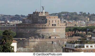 Castle of the Holy Angel - The Mausoleum of Hadrian, usually...