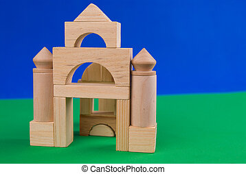 Castle of wood blocks
