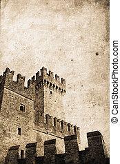 Castle - old knight\'s castle a in retro design look