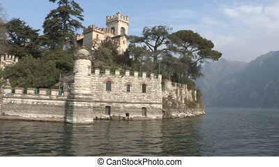 Castle on island on a lake