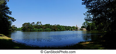 castle on the lake panorama