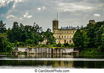 castle on the lake