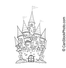 Castle outline - Outline sketch of the castle. The outlines...