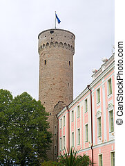 castle., parlamento, estonia., predios, toompea