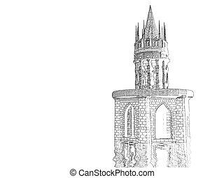 Castle Pencil Sketch