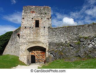 Castle ruin Rabi. South Bohemia Czech republic