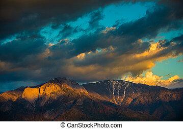 Castle Rock Spire at Sunset