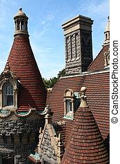 castle roof architecture detail