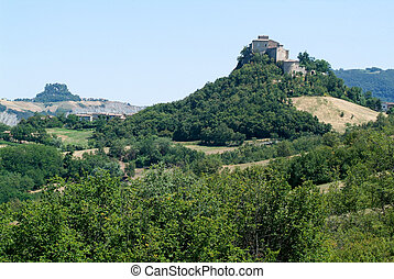 Castle Rossena on Emilia Romagna, Italy