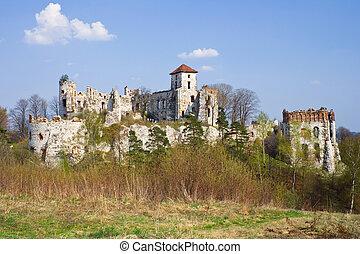 Castle Rudno - Poland. Medieval fortress in the Jura region