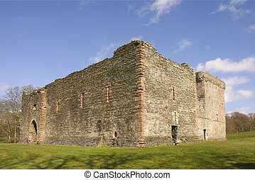Castle ruins at Skipness in Kintyre, Scotland