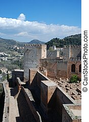 Castle ruins, Granada, Spain.