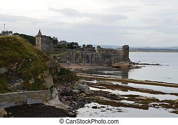 Castle Ruins in Saint Andrews Scotland