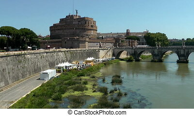 Castle Saint Angel. Tiber river, Rome. Italy.