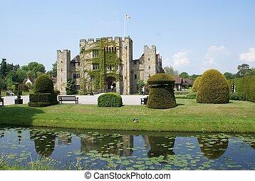 castle scene, Kent, England