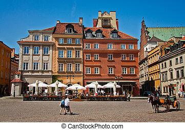 Warsaw - Castle Square in Warsaw, Poland.