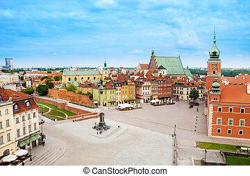 Castle square (Plac, Zamkowy), statue column in Warsaw, Poland