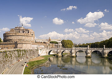 Castle St. Angelo in Rome - Italy Older Bridge and Castle ...