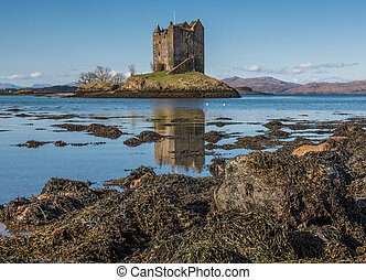 Castle Stalker on the west coast of Scotland