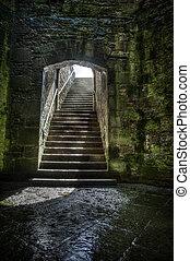 Castle steps leading up