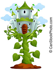 Castle on Top of Vines with Clipping Path