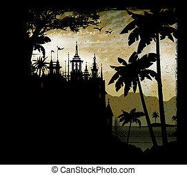 Castle, temple, house, paradise, dream