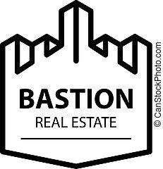 castle tower bastion symbol vector