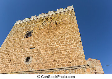 Castle tower in the historic old town of Requena