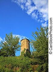 Castle tower near Castell in Lower Franconia