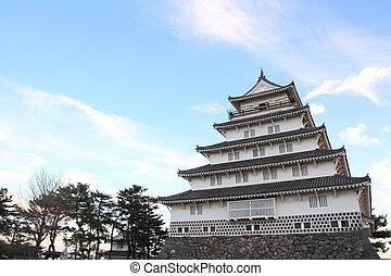 castle tower of Shimabara castle in Nagasaki, Japan