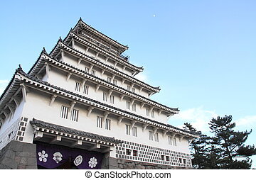 castle tower of Shimabara castle in Nagasaki, Japan