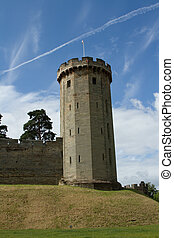 Castle tower. - Stone built historical tower with slits,...