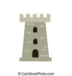 castle tower vector illustration