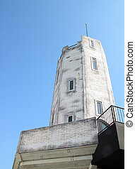 castle tower with blue sky
