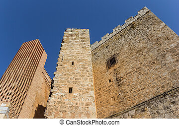 Castle towers in the historic old town of Requena