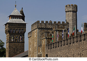 The ornamental towers of Cardiff Castle