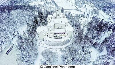 Castle Trakoscan in Croatia - Gopro 4 quadcopter aerial view...