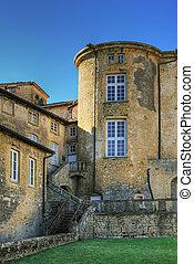 Castle under blue sky