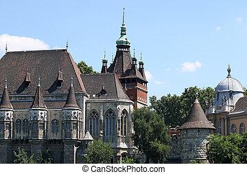 castle vajdahunyad landmark Budapest Hungary
