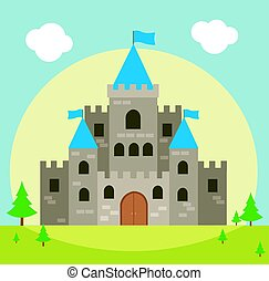 Castle vector illustration