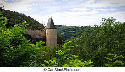 Castle wall and turret