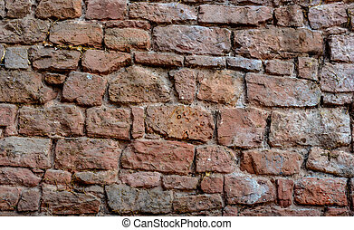 castle wall from a red brick