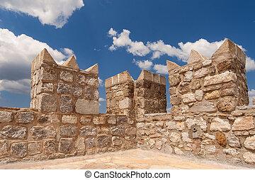 Castle wall in Marmaris, turkey